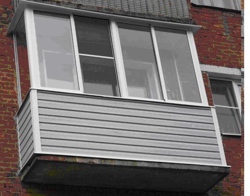 Наши работы по остеклению - балконы и лоджии - балкон 3-х ме.